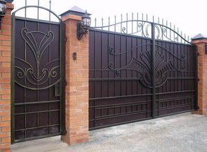 Ворота с калиткой для дачи в СПб