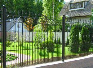 Сварной забор для дачи в СПб