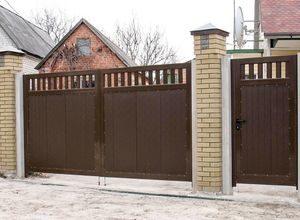 Распашные ворота для дачи в СПб