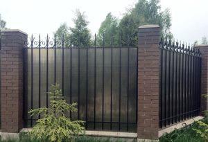 Забор из поликарбоната для дачи в СПб и Ленобласти