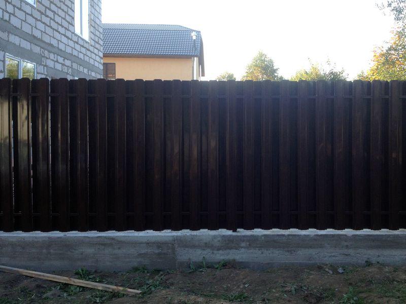 Забор из Металлического штакетника в СПб